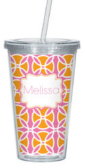 Citrus Pink Clear Acrylic Tumbler
