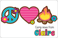 Peace Love Camp Postcard