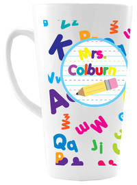 Crazy Alphabet Ceramic Coffee Mug