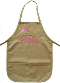 Cowgirl Embroidered Apron