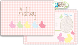 Bunny Line Girl Dry Erase Placemat