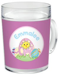Cracked Egg Purple Clear Acrylic Mug