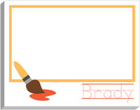 Paint Brush Yellow Writing Pad
