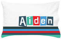Cool Letter Pillowcase