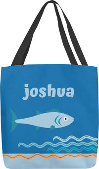 Baby Blue Fish Tote Bag