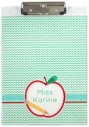 Apple Half Acrylic Clipboard