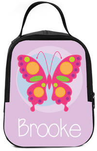 Pink Butterfly Lunch Box