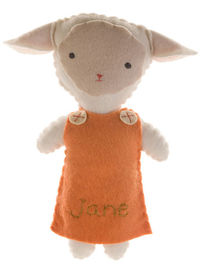 Lamb Girl Stuffed Animal