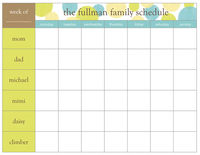 Lime Dots Weekly Scheduling Pad  C20403