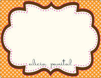 Chocolate Orange Frame Note Card