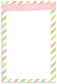 Pink Linen Stripes Pad