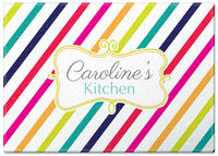 Colorful Candy Stripes Glass Cutting Board