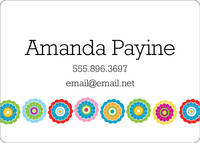 Colorful Flowers Calling Card