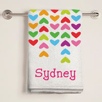 Lined Hearts Bath Towel