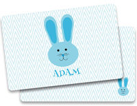 Blue Bunny Ears Placemat