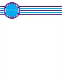 Blue Purple Large Notepad
