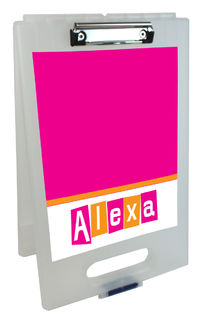 Letter Shapes Fuchsia Clipboard Storage Case
