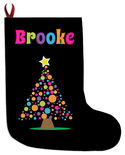 Bright Bulbs Tree Christmas Stocking
