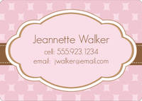 Chocolate Pink Calling Card