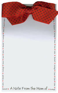 Name Border Red Heart Bow Notepad