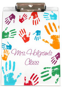 Colorful Hands Acrylic Clipboard