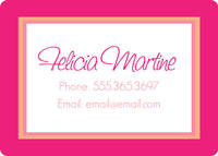 Peachy Pink Calling Card