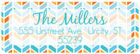 Citrus Herringbone Return Address Label