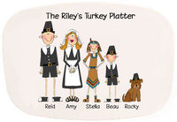 Custom Family Thanksgiving Melamine Platter