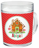 Gingerbread House Clear Acrylic Mug