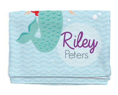 mermaid personalized beach towel kids towels custom beach towel