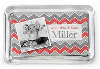 Grey Zig Zags Photo Paperweight