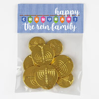 Happy Chanukah Dreidels Candy Bag Toppers