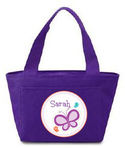 Dotted Butterfly Insulated Lunch Tote