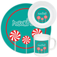 Peppermint Pops Melamine Set
