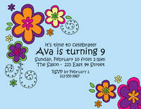 Mod Flowers Invitation