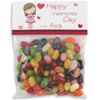 Be Mine Girl Valentines Candy Bag Toppers