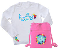 Bright Hearts Tee & Drawstring Bag