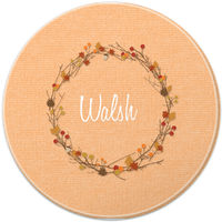 Fall Wreath Round Glass Cutting Board