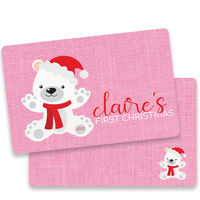 First Christmas Bear Pink Placemat