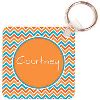 Aqua Orange Key Chain