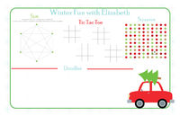 Christmas Tree Tow Paper Placemats