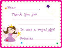 Fairy Princess Fill-in Card