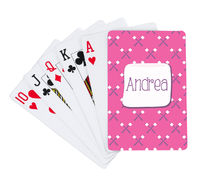 Girly Marshmallows Playing Cards