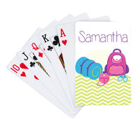 Camp Supplies Girl Playing Cards