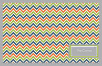 Chevron Green Paper Placemats