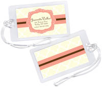Peach and Cream Luggage Tag