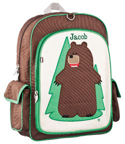Fernando Bear Large Embroidered Backpack