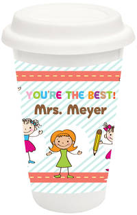 Happy Class Covered Ceramic Tumbler