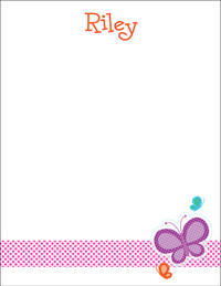 Dotted Butterfly Large Notepad