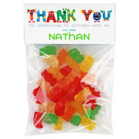 Monster Name Birthday Party Candy Bag Favors